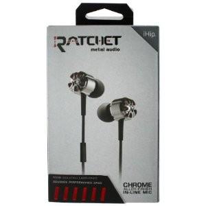 Ratchet Chrome Metal Audio Noise Isolating Earphones IP-RATC-CHROME