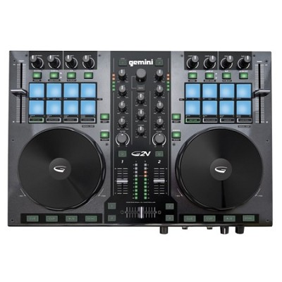 DJ G2V DJ Controller 2 Channel Midi Controller with Soundcard