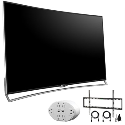 H10 Series 65` Ultra HD 120Hz 4K Curved ULED 3D Smart TV +Wall Mount Kit