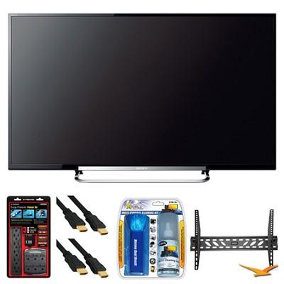 KDL-50R550A 50` 120Hz 3D WiFi 1080p LED HDTV Wall Mount Bundle