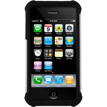 iPhone 4/4S Ballistic Shell Gel (SG) Series Case - Black/White