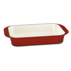 Chef's Classic Enameled Cast Iron 14-Inch Roasting/Lasagna Pan - Cardinal Red