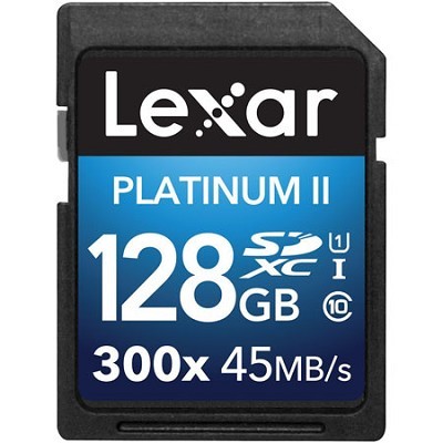 Platinum II 300x SDXC 128GB UHS-I/U1 Flash Memory Card - 2 Pack