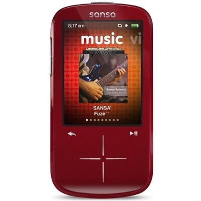 Sansa Fuze+ 4GB Red MP3 MP4 Video Music Player w/ FM radio