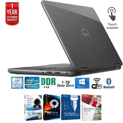 i3179-0000GRY Inspiron 11.6` HD Intel M3-7Y30 Laptop+Software+Warranty