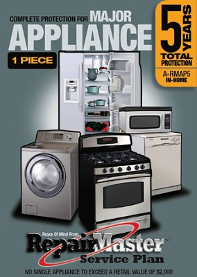 Repair Master Five (5) Year Total Warranty for Appliances { Up to $1,500 }