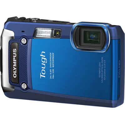 Tough TG-820 iHS 12MP Waterproof Shockproof Freezeproof Digital Camera - Blue
