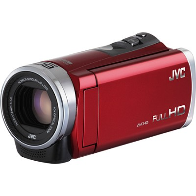 GZ-E300RUS- HD Everio Camcorder 40x Zoom f1.8 (Red)