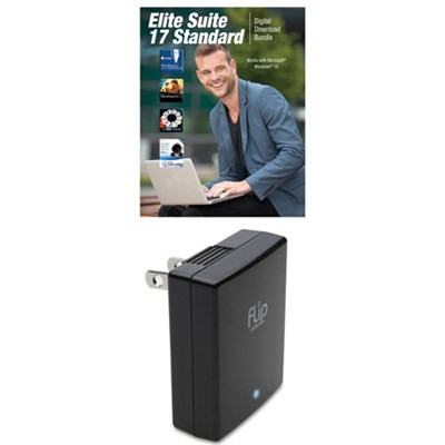 Universal USB Travel Wall Charger + Corel Elite Suite 17