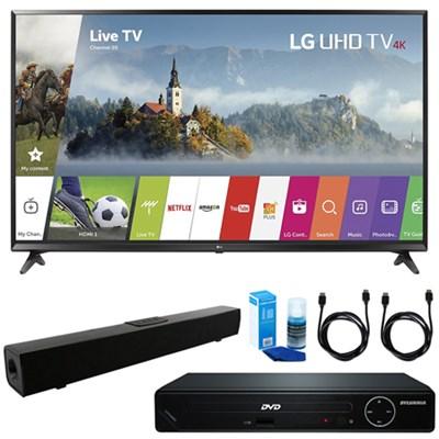 43-inch UHD 4K HDR Smart LED TV w/ HDMI DVD Player & Sound Bar Bundle