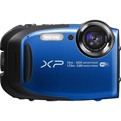 FinePix XP80 16MP Waterproof Digital Camera with 2.7-Inch LCD - Blue