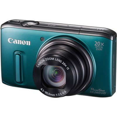 PowerShot SX260 HS Green Digital Camera 20x Optical Zoom 1080p Video