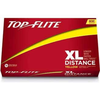 Top Flite XL Distance Yellow Golf Ball - 15 Pack 610644815