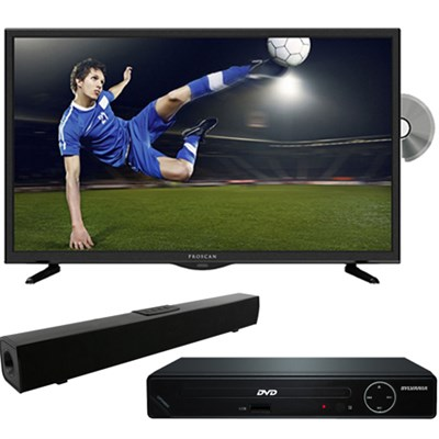 PLDV321300 32` LED TV-DVD Combo + HDMI DVD Player + Bluetooth Sound Bar