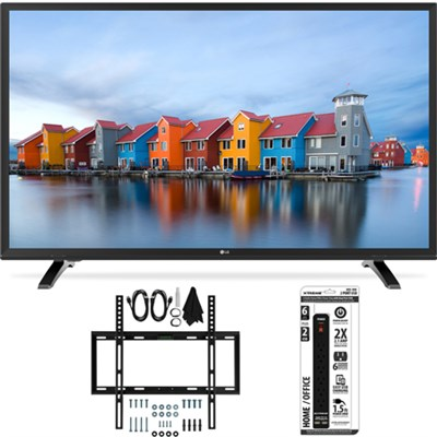 32LH500B 32-Inch HD 720p 60Hz LED TV w/ Slim Flat Wall Mount Bundle