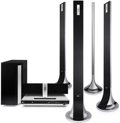 LHT799 - DVD Home Theater System w/ Flat speakers, DVD 1080i Video upconversion