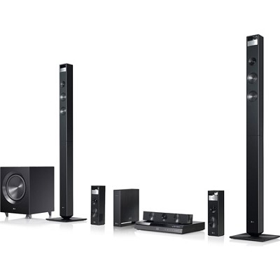 3D Wi-Fi Smart Blu-ray Home Theater System - Wireless Rear Speakers, Tallboys