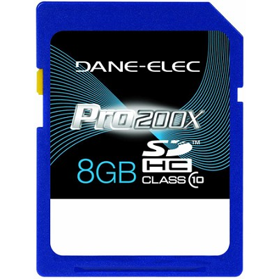 8 GB Secure Digital High Capacity (SDHC) Memory Card Class 10