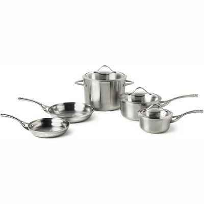 Contemporary Stainless 8-pc. Cookware Set - LR8A