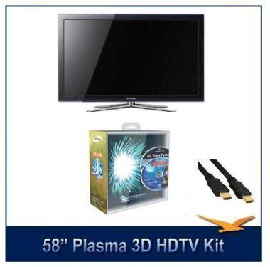 PN58C680 58-Inch 1080p Plasma 3D HDTV with Samsung 3D Starter Kit