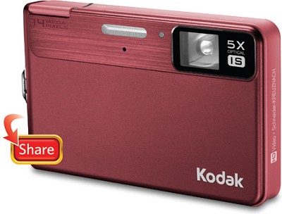 EasyShare M590 14MP 2.7` LCD Digital Camera (Red)