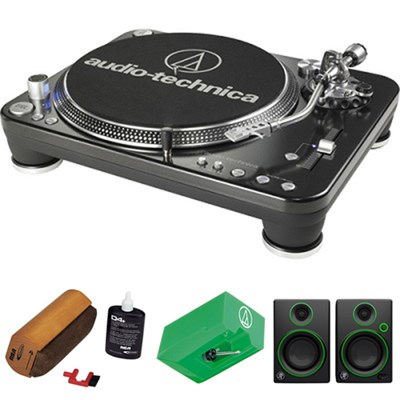 Professional DJ Turntable - AT-LP1240-USB w/ Mackie Creative Multimedia Monitors