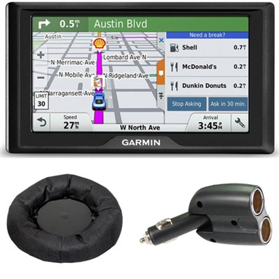 Drive 50LM GPS Navigator (US and Canada) 010-01532-07 Mount + Car Charger Bundle
