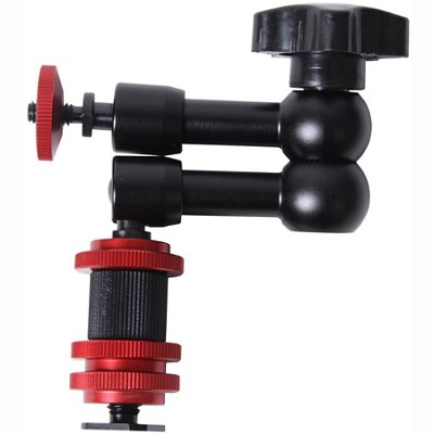11` Articulating Variable Friction Adjustable Arm w/ Hot Shoe Mount Adapter