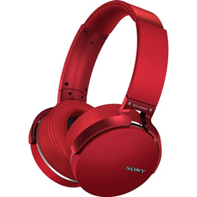XB950BT Extra Bass Bluetooth Headphones - Red