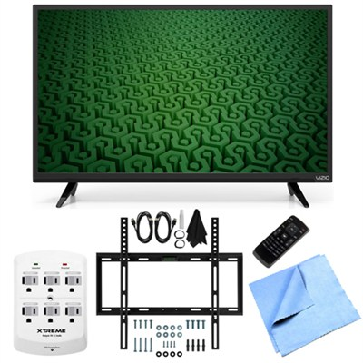 D43-C1 - 43-Inch Full HD 1080p 120Hz LED TV Slim Flat Wall Mount Bundle