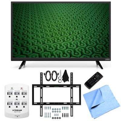 D43-C1 - 43-Inch Full HD 1080p 120Hz LED TV Slim Flat Wall Mount Bundle