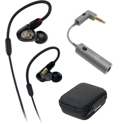 Professional In-Ear Monitor Headphone ATH-E50 w/ iFi Audio iEMATCH