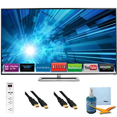 70-Inch 1080p 240Hz 3D LED Smart HDTV Plus Hook-Up Bundle - M701D-A3R