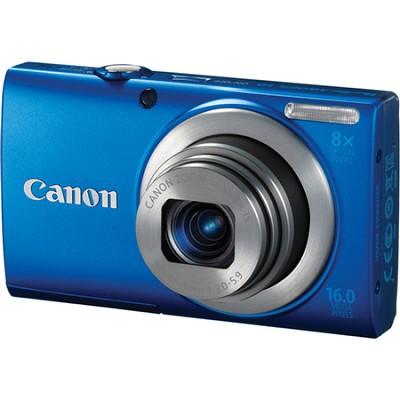 A4000 IS 16MP Blue Digital Camera 8x Optical Zoom 3 inch LCD