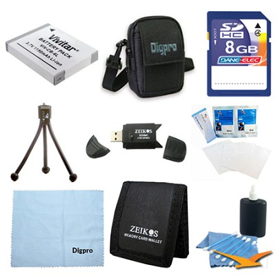 Loaded Value 8GB Card & BP-6L Battery Kit for Canon SX500,SX260,D20,S95 & 500HS