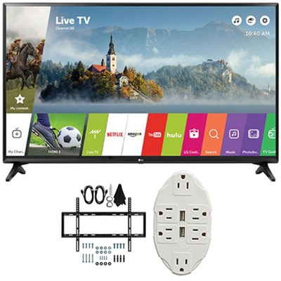 43` Class Full HD 1080p Smart LED TV 2017 Model 43LJ5500 w/ Wall Mount Bundle