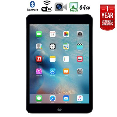 iPad Mini 2 w/ Retina Display (64GB,WiFi, Space Gray) +Extended Warranty, Refurb