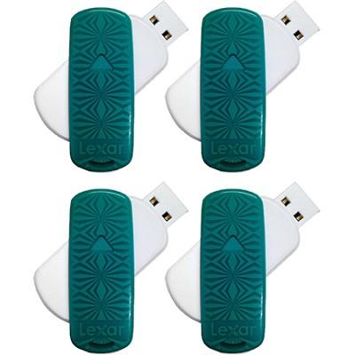 16 GB JumpDrive S33 USB 3.0 Flash Drive (Teal- Kaleidoscope) 4-Pack (64GB Total)