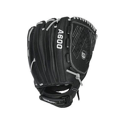 A600 Fastpitch Right Hand Throw 12-Inch Baseball Glove - Black