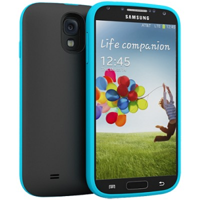 Unity Ultra-Slim 2600mAh Battery Case for Samsung Galaxy S4 - Black/Blue