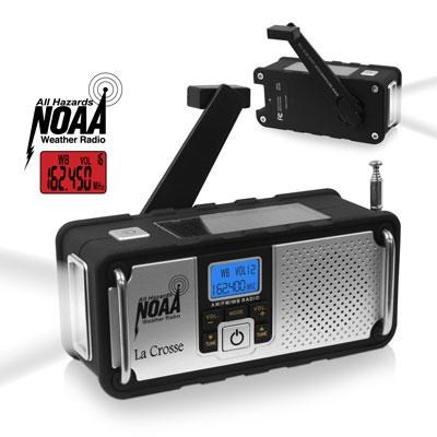 Solar Hand Crank Weather Radio - 810-106