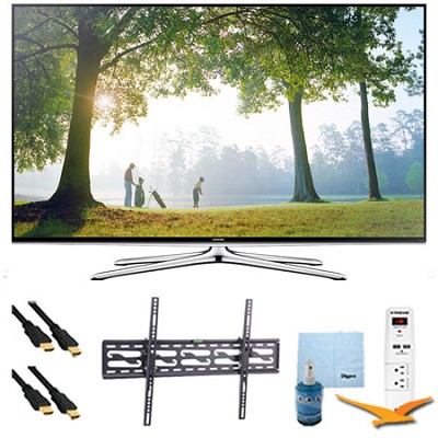 55` Smart 1080p HDTV Clear Motion 240 Wi-Fi Tilt Mount & HookUp Bundle UN55H6350