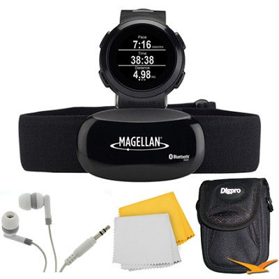 Echo Smart Running Watch with Heart Rate Monitor- Black Bundle