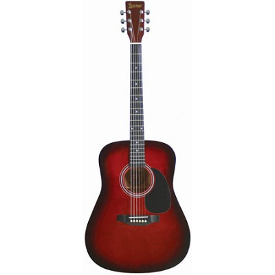 LA125BR Satin Finish Dreadnought Acoustic Guitar - Brownburst