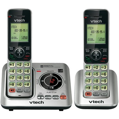 DECT 6.0 2-Handset Landline Telephone Cordless Answering System - CS6629-2