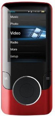 MP3 Video Player with 2` Display, 4 GB Flash Memory & FM (Red)
