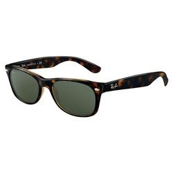 New Wayfarer RB2132 Sunglasses - Tortoise Frames/Green Lens 52mm