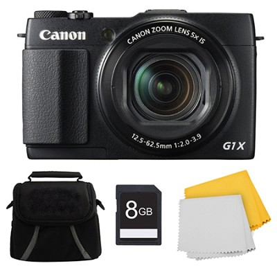 PowerShot G1 X Mark II Digital Camera 8GB Kit