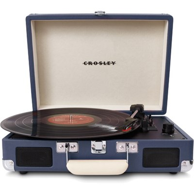 Cruiser Portable 3-Speed Turntable with Bluetooth - CR8005D-BL (Blue Striped)