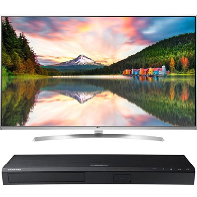 60` Super Ultra HD 4K Smart LED TV w/webOS 3.0 - 60UH8500 w/ Samsung Disc Player